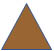 Brown Triangle Representing Severe Weather