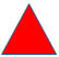 Red Triangle Representing Fire Emergency